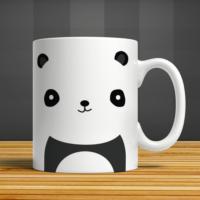 İf Dizayn Panda Baskılı Kupa Bardak