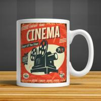 İf Dizayn Retro Sinema Baskılı Kupa Bardak