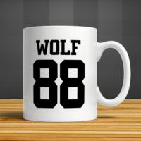 İf Dizayn Wolf 88 Baskılı Kupa Bardak
