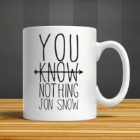 İf Dizayn You Know Nothing Jon Snow Kupa Bardak