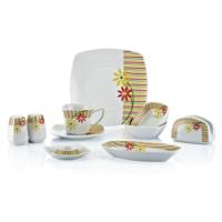 Goldmaster 36 Parça Fine Porselen Kare Kahvaltı Takımı kt-111