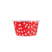 KullanAtMarket Kırmızı Puantiyeli Muffin Kek Kapsülü 50li - 50 Adet