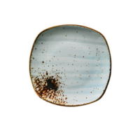 Kütahya Porselen Atlantis Prizma 17 Cm Düz Tabak Mavi