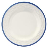 Naturaceram Hasır Mavi Fileli Pasta Tabağı