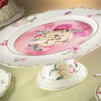 Kütahya Porselen 21100 Desen Ayaklı Kek & Pasta Tabağı