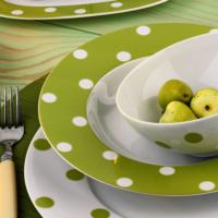Kütahya Porselen 23 Cm Çukur Tabak Yeşil