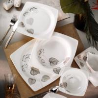 Kütahya Porselen Aliza Bone 83 Parça 25131 Desenli Yemek Takımı