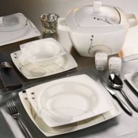 Kütahya Porselen Aliza Bone 83 Parça 35102 Desenli Yemek Takımı