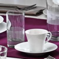Kütahya Porselen Cisil 2 Kişilik Su Bardaklı Kahve Fincan Takımı