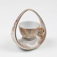 Kütahya Porselen El Yapımı Sepet Kahve Fincanı 1