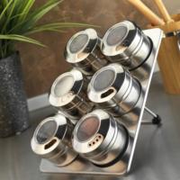 Kütahya Porselen Magnetli Standlı 6&Apos;Lı Baharatlık Seti