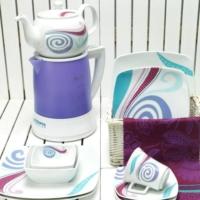 Kütahya Porselen Medusa 4829 Desen Kahvaltı Takımı