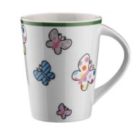 Kütahya Porselen Renkli Kelebek Kupa