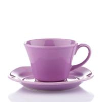 Naturaceram Natura Ceram Asya Lila Çay Fincanı Tabaklı