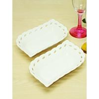 Kitchen Love 2 Adet Delikli Porselen 18Cm Servis Tabak