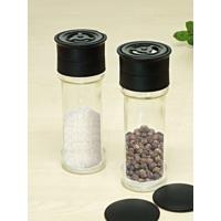 Kitchen Love 2 Adet Kapaklı Cam Değirmen Tuz Biber Set