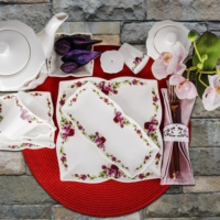 Karaca 34 Parça Kahvaltı Seti Red Rose