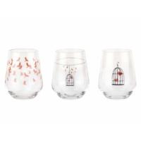 Tantitoni 6 Parça Kafes Desenli Su Bardağı Takımı