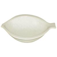 iHouse Lvn-0404 Seramik Mavi Balık Yemek Tabak Beyaz