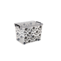 Hit Box Tekerlekli Kasa No: 22 -Resimli Siyah Çiçek