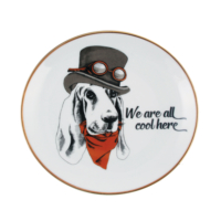 Gavia Köpek Figürlü Tabak-We Are All Cool Here
