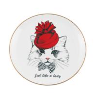 Gavia Kedi Figürlü Tabak - Feel Like A Lady