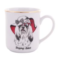 Köpek Figürlü Kupa- Shopping addict- Kupa