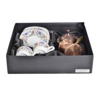Cutechef Kitchen Porselen Arabesk Cezveli Asetat 3'Lü Set