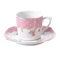 Cutechef Kitchen Porselen New Rose Kare Kahve Takımı