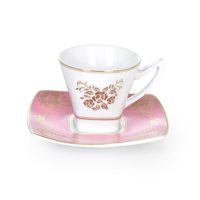 Cutechef Kitchen Porselen Pınk Kare Kahve Takımı