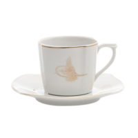 Cutechef Kitchen Porselen Sultan Kare Kahve Takımı