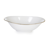 Cutechef Kitchen Yaldızlı Porselen Oval Kayık Tabak 25 Cm