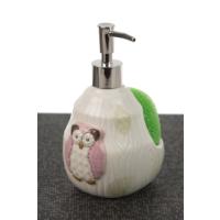 Lena Dekor Baykuş Mutfak Sıvı Sabunluk - Pembe 10 x 18 cm