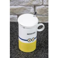 Lena Dekor Minion Porselen Kupa \ Bardak 7 x 13 cm