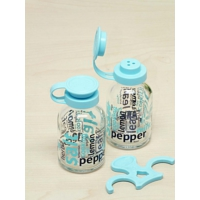 Kitchen Love 2'li Dekoratif Standlı Cam Tuz-Biber Set