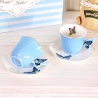 Butterfly Fincan 2Li - Mavi