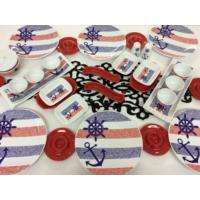 Keramika Çapa Dümen Kırmızı Kahvaltı Takımı