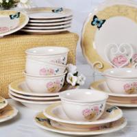 Keramika Takım Yemek Juliet 24 Parça Krem 030 Gizem Natural