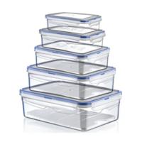 Hobby Life Plastik 5 Li Dikdörtgen Sızdırmaz Saklama Kabı(0,4+,8+1,4+2,6+4,3Lt)