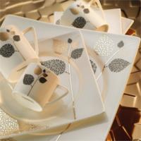 Kütahya Porselen Square Bone 84 Parça 65103 Desenli Yemek Takımı