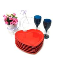 Keramika Tabak Kalp 20 Cm Kırmızı Bayrak 506
