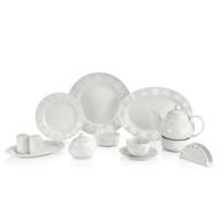 N1018 Rosemary Dantel S 38 Parça Kahvaltı Takımı Beyaz