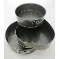 Cix Fame Kitchen Teflon 3'lü Yuvarlak ve Kalp Şekilli Kek Kalıbı Seti YT-63