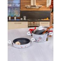 Keramika 2 Lı 3 Parca Pratık Perı Masalı Tencere Setı