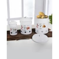 Keramika 3 Lu Metal Baklıyat Setı Beyaz