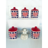 Keramika Takım Baharat Kosem 8 Cm 10 Parca Mat 021-975 Potıkare A