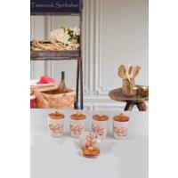 Keramika Takım Baharat Julıet 9 Cm Mat Transparan Beyaz 021 Sonbahar Tomurcuk