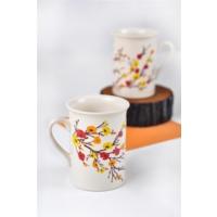 Keramika 2 Adet Tuna Sonbahar Tomurcuk Nescafe Kupası