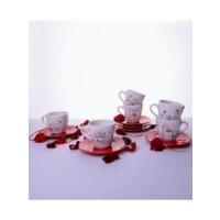 Keramika 6 Kısılık 12 Parca Yedı Tepe Nescafe / Cay Takımı Perı Masalı