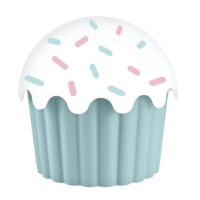 Cupe Cake Saklama Kabı - Mavi 550 Ml